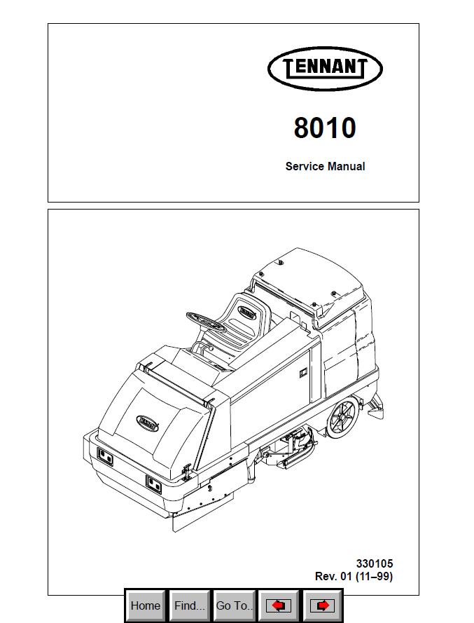 Tennant 8010 Machine Download PDF Service Manual
