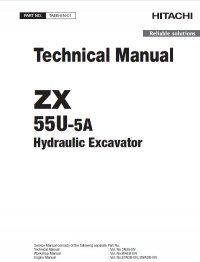 Download Hitachi Excavator ZX55U-5A Workshop Manual