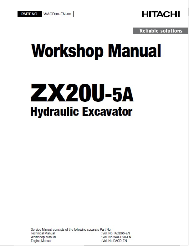 Download Hitachi Excavator ZX20U-5A Workshop PDF