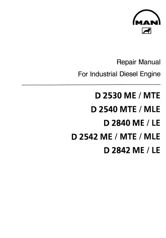 Man Engines D2530, D2540, D2840, D2542, D2842 Repair PDF