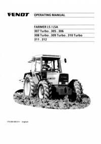 Fendt Farmer Tractor LS/LSA 305-312 Turbo Operating Manual