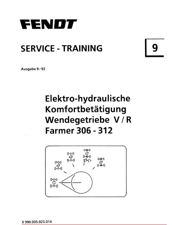 Download Fendt Tractor Farmer 306-312 Service Training PDF