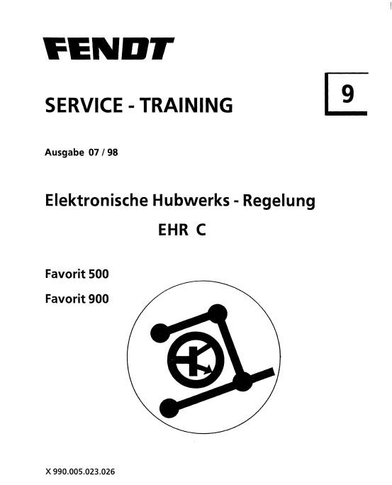 Download Fendt Tractor EHR C Favorit 500/900 Service Training