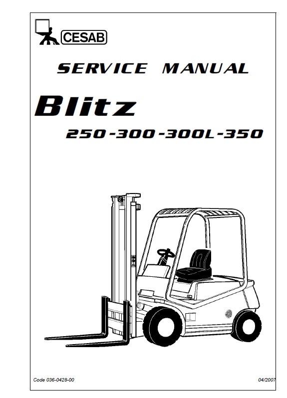 Download Cesab Blitz 250 300 300L 350 Service Manual PDF