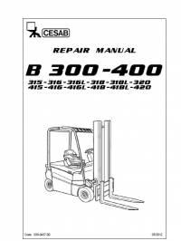 Download Cesab Forklifts B 300-400 Series Repair Manual PDF