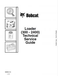 Bobcat Loader (300-2400) Technical Service Guide Download