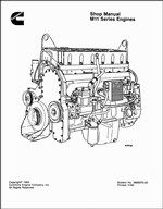 Cummins Engine M11 Series Shop Manual