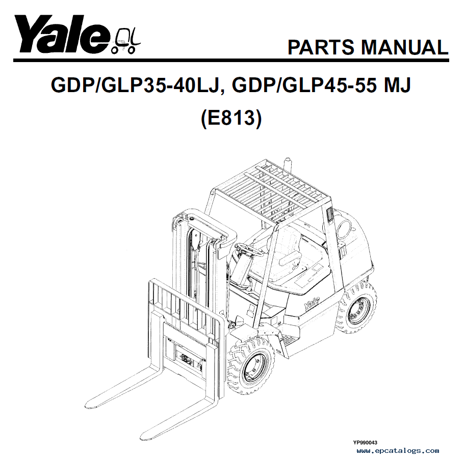 Yale Industrial Trucks Parts Manuals for Europe region in PDF