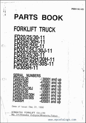 Komatsu Forklift, repair manual, Forklift Trucks  Manuals