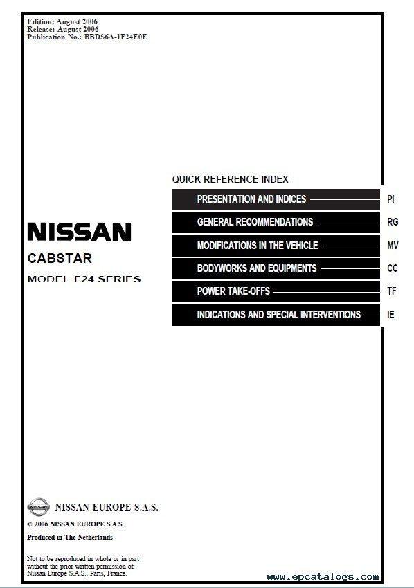Nissan cabstar Bedienungsanleitung: Software kostenloser