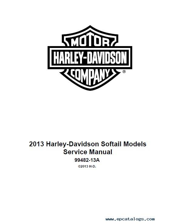 Harley Davidson Softail 2013 Diagnostic Service Manuals PDF