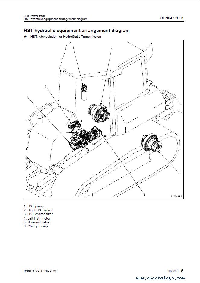 Komatsu D39EX-22, D39PX-22 Bulldozer Manual Download