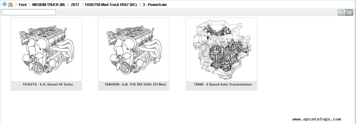 Ford EPC5 USA 2018 Parts Catalog