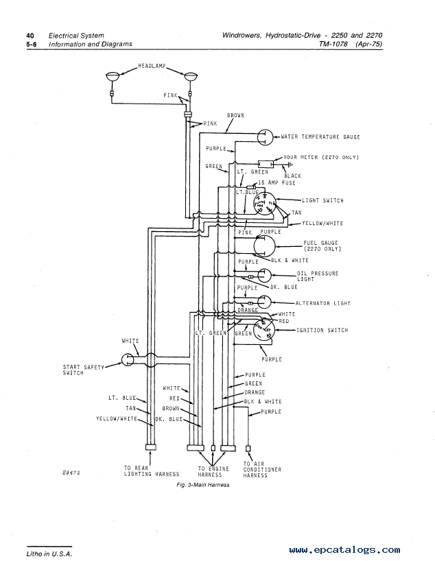 john deere wiring diagram group 25 and 30