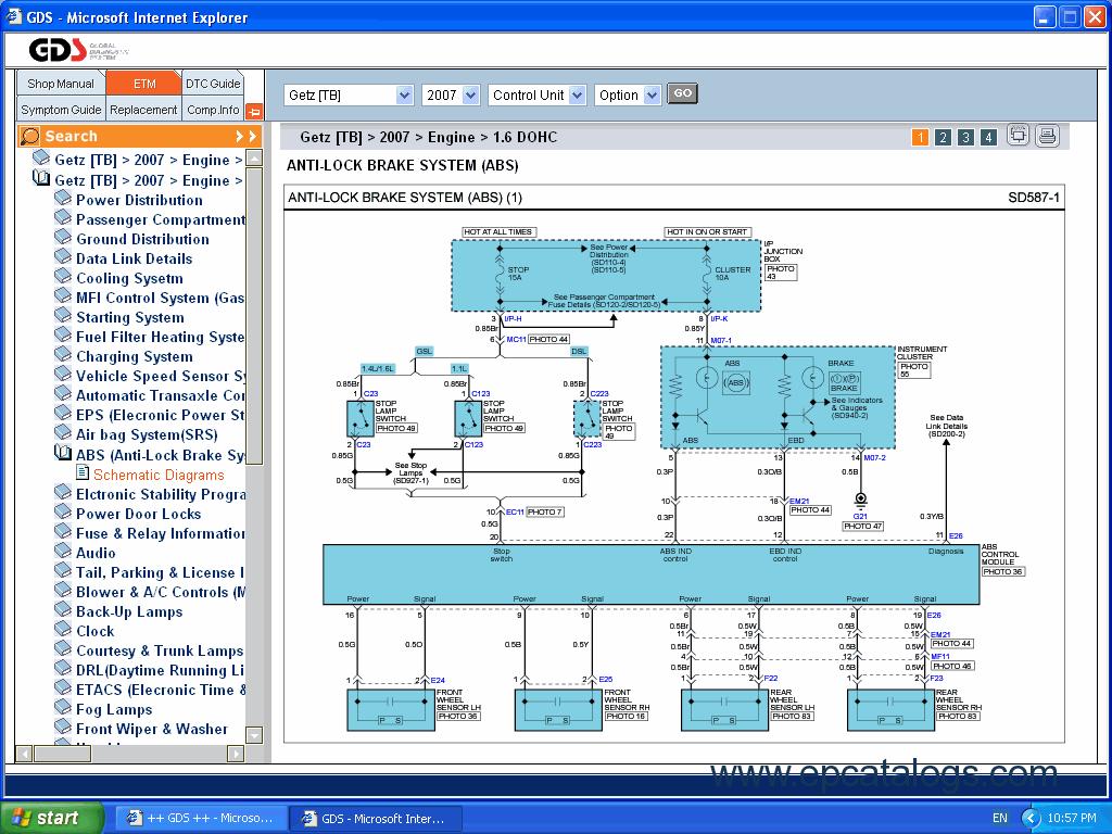 hyundai atos ecu wiring diagram 3 way tacker gds repair manuals service shop