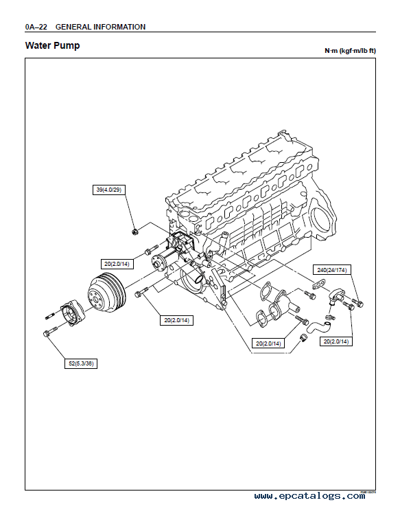 JCB Isuzu Diesel Engine AA-6HK1T BB-6HK1T Workshop Manual PDF
