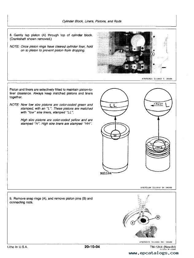 John Deere 5720 & 5820 Forage Harvesters TM1244 PDF