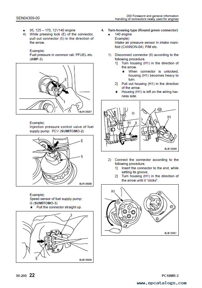 Komatsu PC18MR-3 Hydraulic Excavator Shop Manual