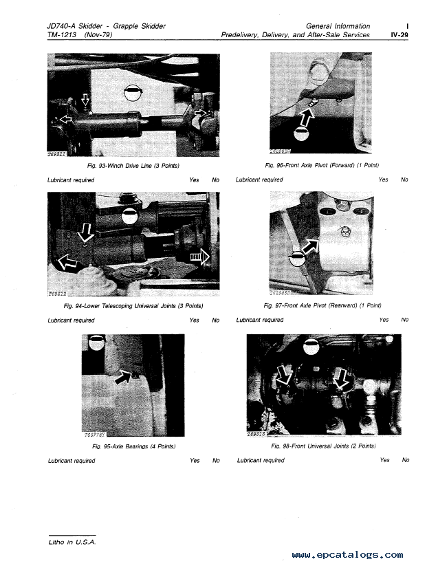 John Deere JD740A Grapple Skidder TM1213 PDF Manual