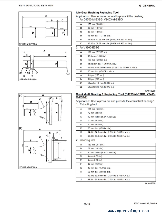Kubota SQ-14/21/26/33 Generator Workshop Manual PDF Download