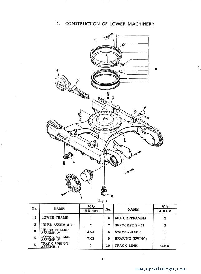Kobelco MD140C Hydraulic Excavator Download Shop Manual PDF