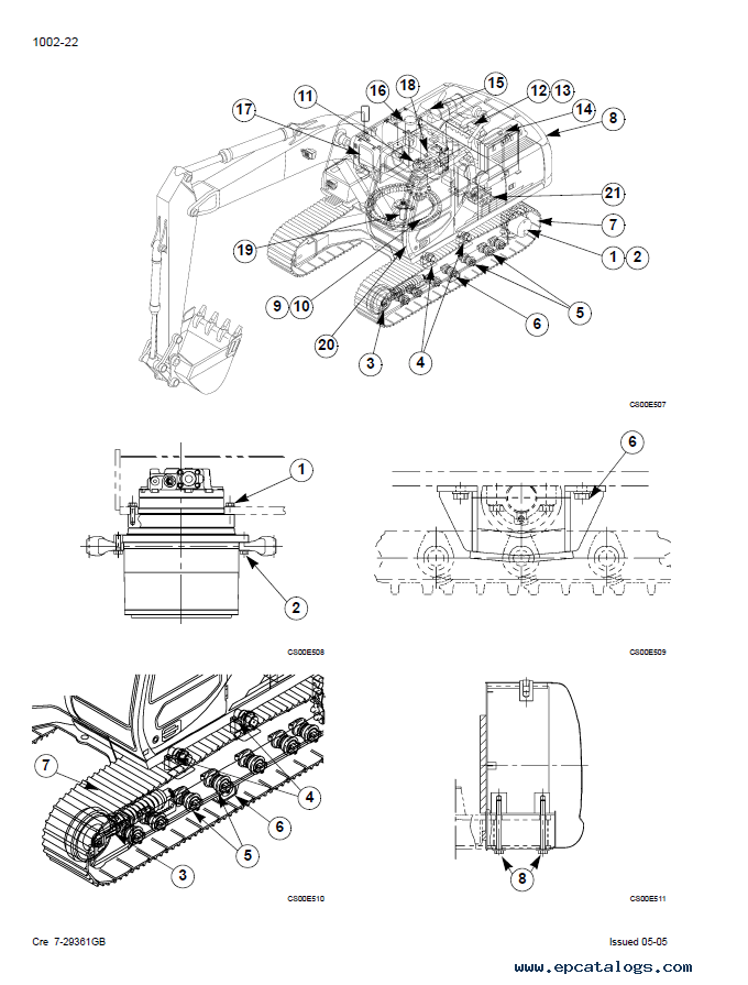 Case CX210 CX230 CX240 Crawler Excavators PDF Manual