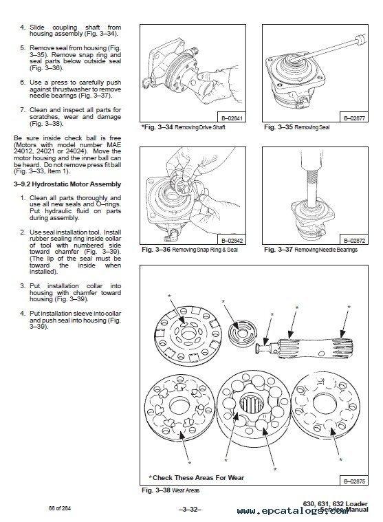 Bobcat 630, 631, 632 Skid Steer Loaders Service Manual PDF