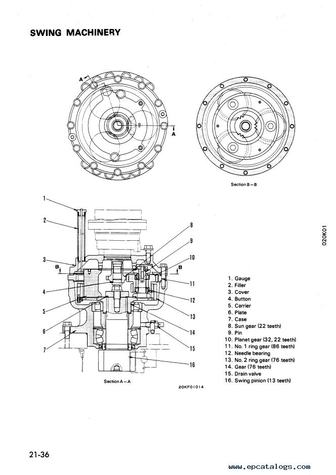 Komatsu PW210-1 Wheel Loader Shop Manual Download