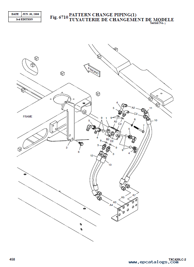 Terex TXС 420LC-2 Heavy Excavator Parts Manual PDF Download