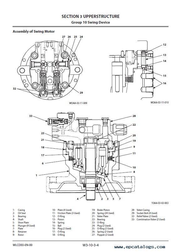 Hitachi Wheeled Excavator ZX210W-5A Workshop Manual