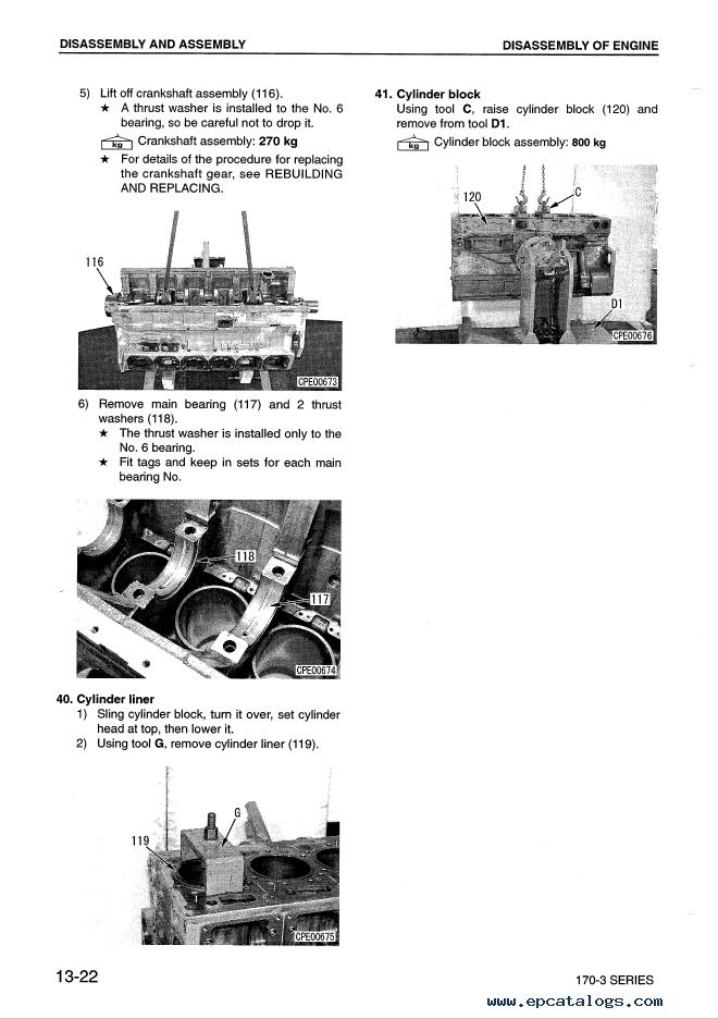 Komatsu Diesel Engine 170-3 Series Shop Manual Download