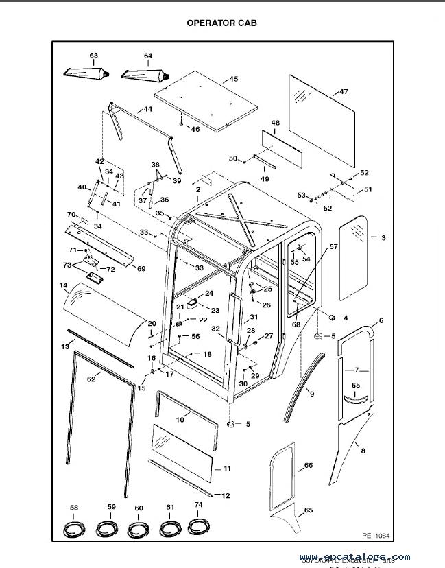 Bobcat 337 341 D-Series Excavators Parts Catalog PDF