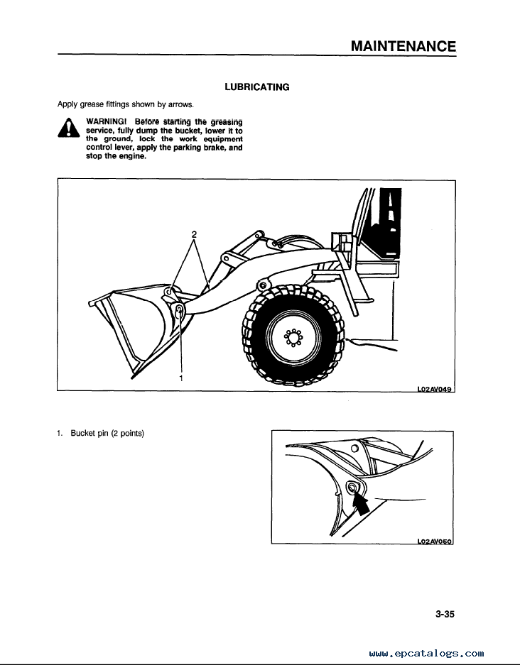 Komatsu Wheel Loader WA120-1LC Manual Download