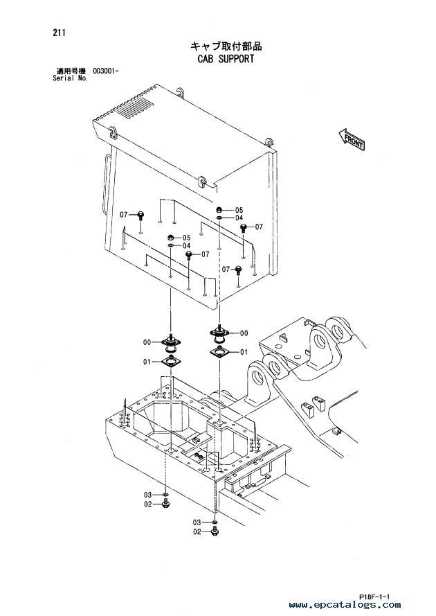 Hitachi EX1200-5D Excavator Parts Catalog (P18F-1-1) PDF