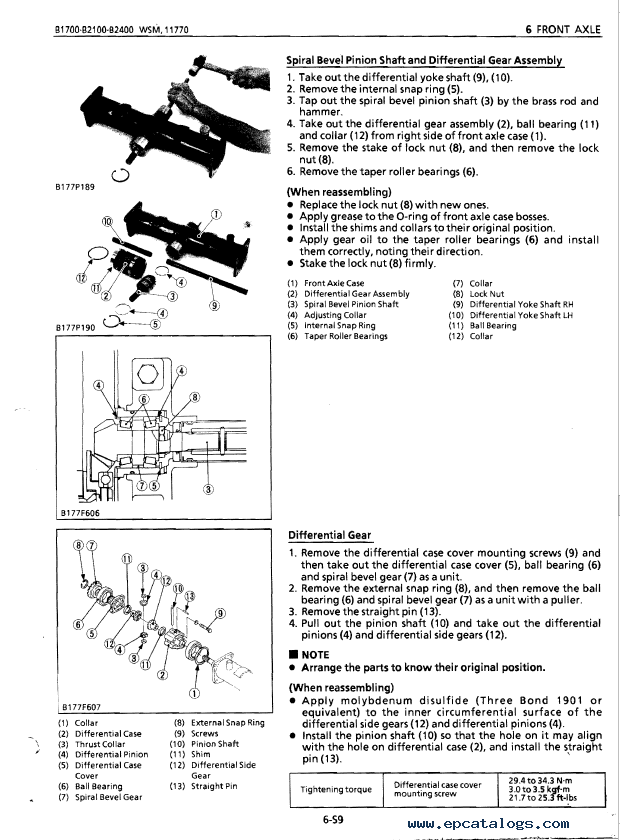 Kubota B1700 B2100 B2400 Tractor Workshop Manual PDF