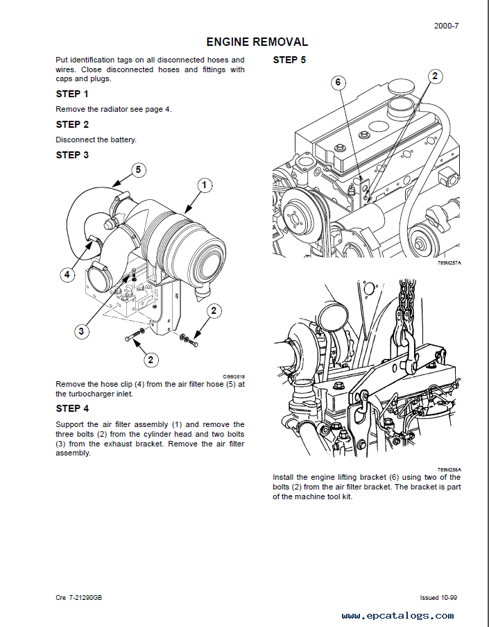 Case 750/760/860/960/965 Loader Service Manual PDF Download
