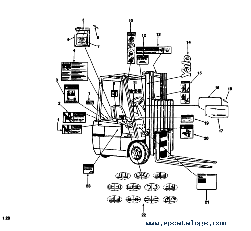 Yale Trucks A807 ERC/ERP 16-18-20 ATF PDF Manuals