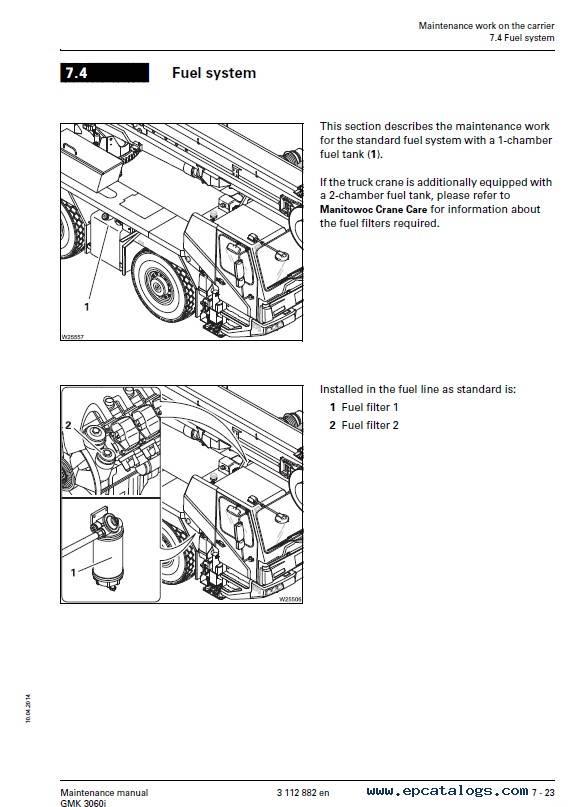 Grove Truck Crane GMK 3060i Maintenance Manual PDF
