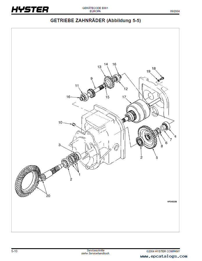 Nissan 50 Forklift Parts Diagrams