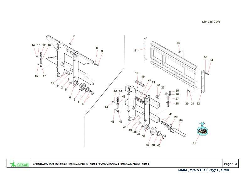Download Cesab Forklifts Blitz 320 Spare Parts Catalog PDF