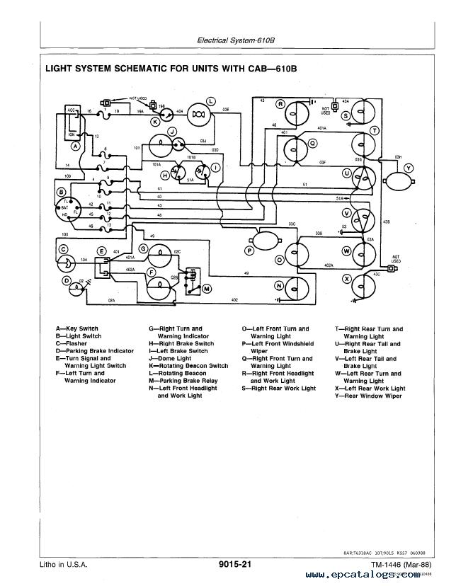 John Deere 610B/C Backhoe Loader Operation Test TM1446