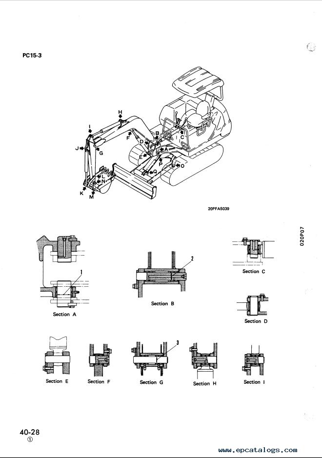 Komatsu Excavator PC10-7, PC15-3, PC20-7 Manual PDF