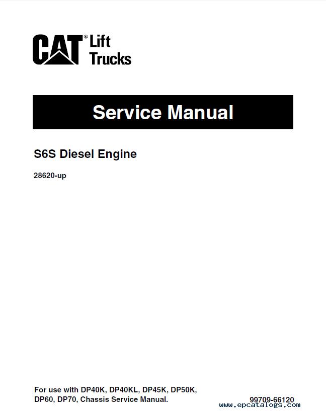 caterpillar DP60 & DP70 Forklifts Service Manual PDF