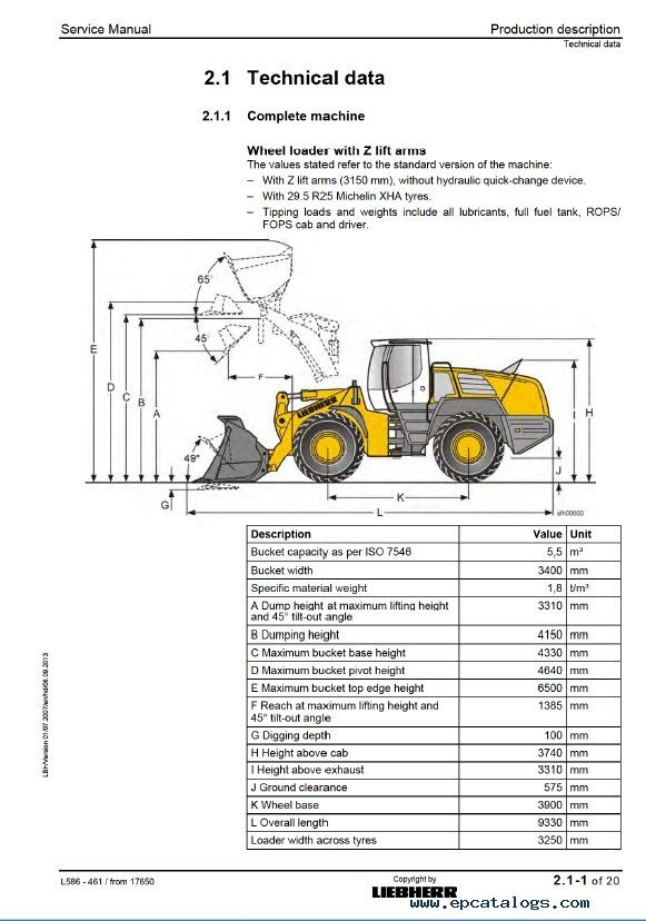Liebherr L586 2plus2 Wheel Loader Service Manual PDF