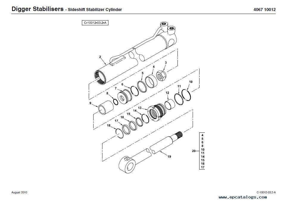 Terex 970 Backhoe Loader Download PDF Parts Manual