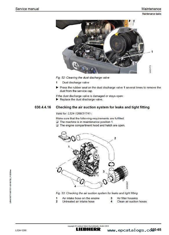 Liebherr L524 1266 Wheel Loader Service Manual PDF