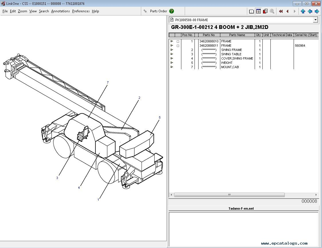 Tadano Spare Parts Catalog FULL Offline with All Models