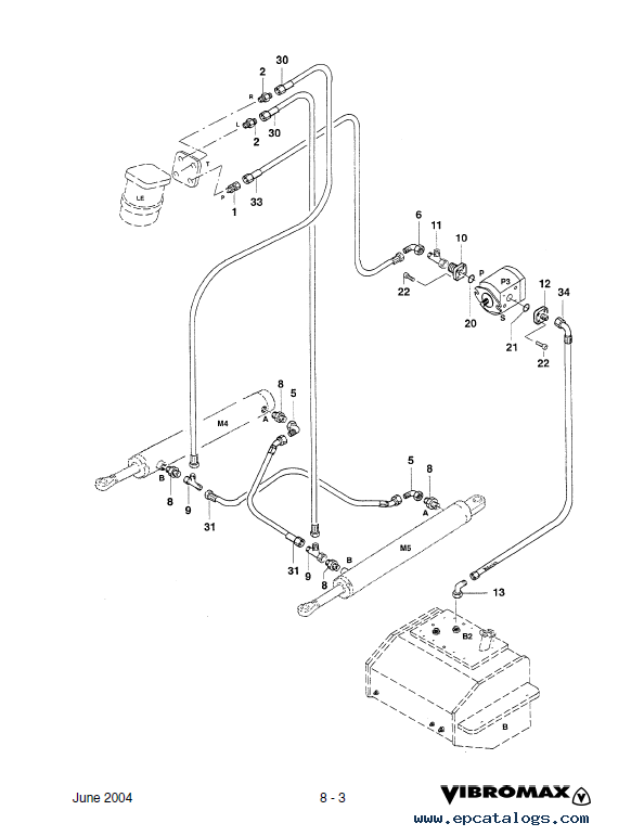 JCB Vibromax VM 66 Single Drum Roller Service Manual PDF