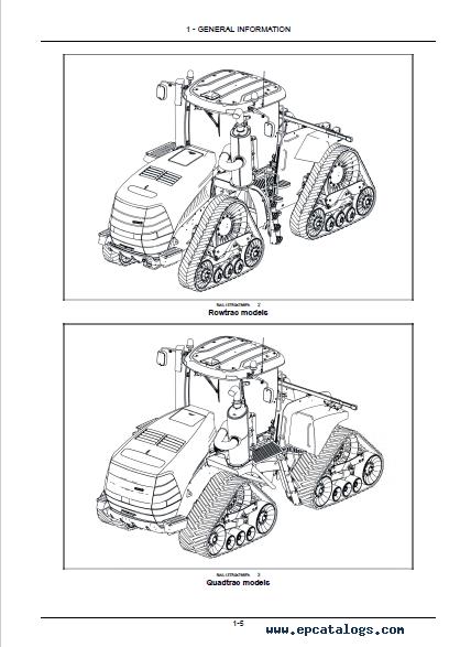 Case Tractors Tier 4B Rowtrac/Steiger/Quadtrac PDF Manuals
