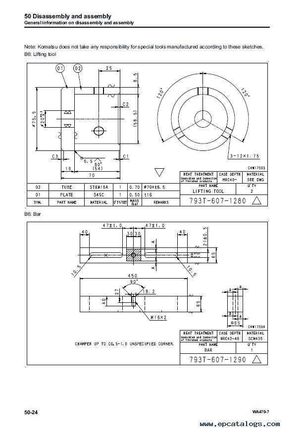 Komatsu Wheel Loader WA470-7 Shop Manuals PDF